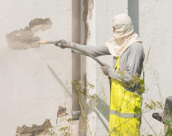 Betonrenovering af væg