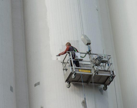 Maling af silo