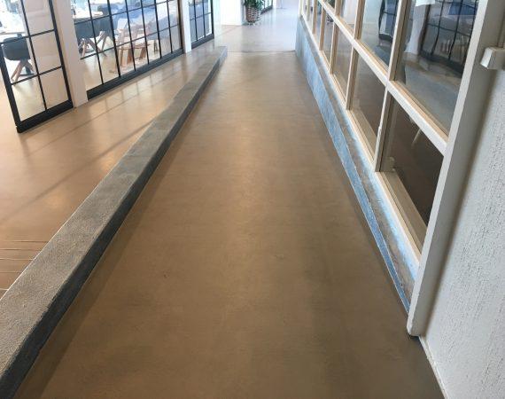 Renovering af rampe med micro cement