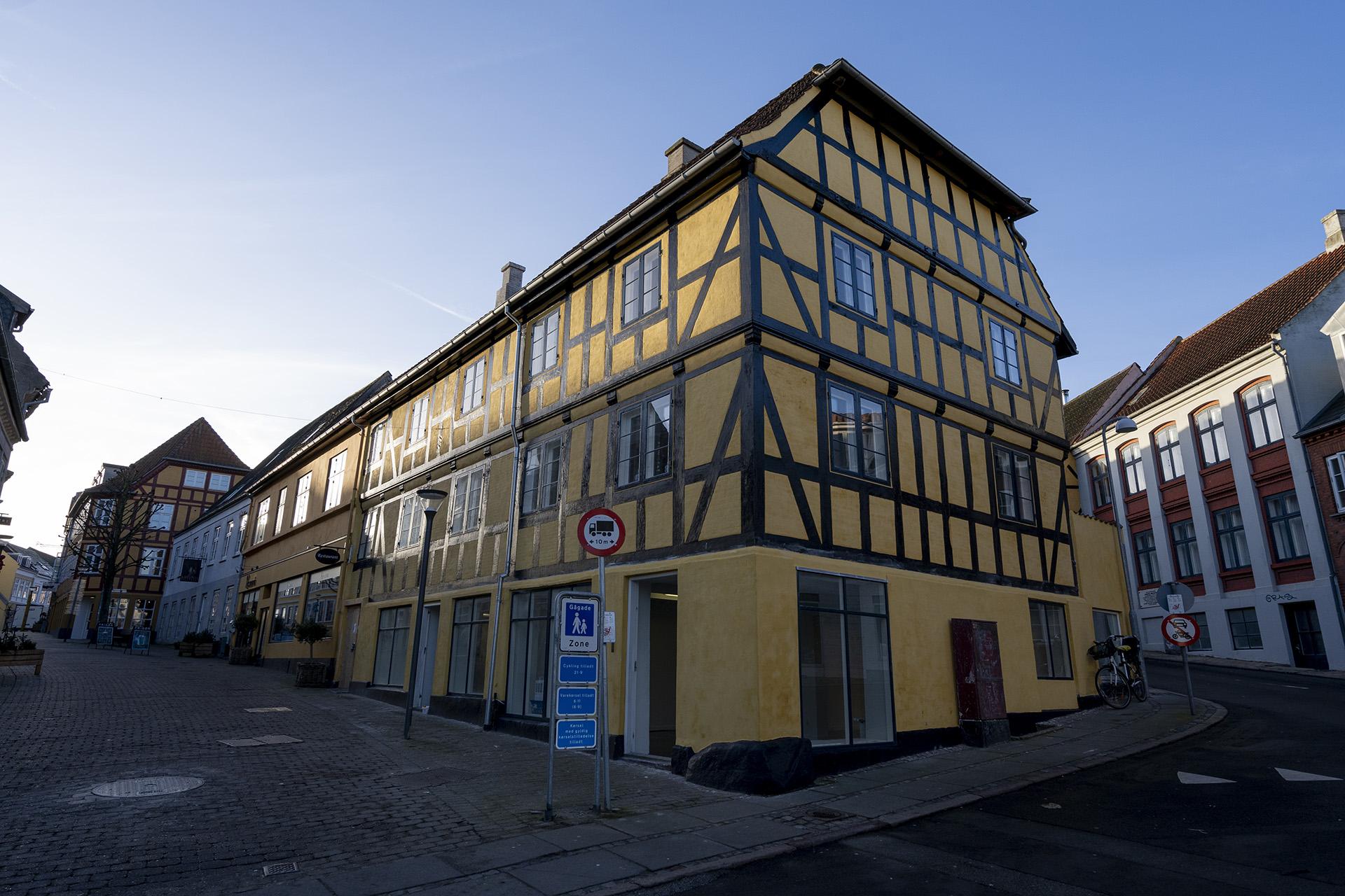 Facaderenovering af bindingsværkshus